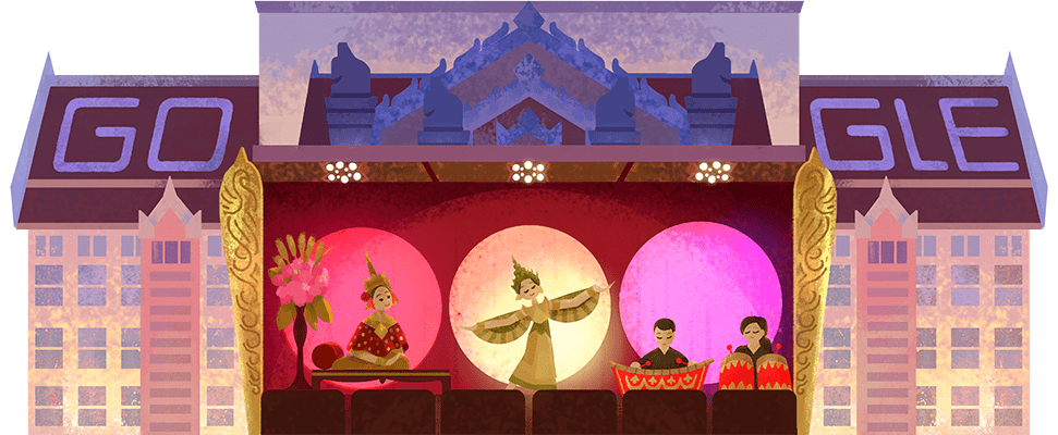 A #GoogleDoodle to celebrate the Thai National Theatre, an iconic arts venue located in the country's capital of Bangkok 🎭🇹🇭  First inaugurated in 1965, the theatre showcases various Thai artforms, from traditional big bands to classical dance →