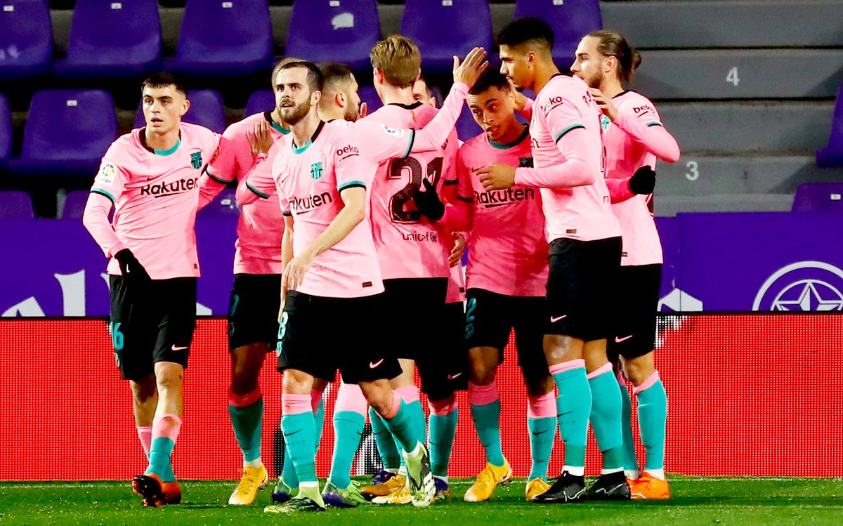 A really good and important win last night against Valladolid.  - Happy Holidays everyone! 🔵🔴 #ForçaBarça #MerryChristmas