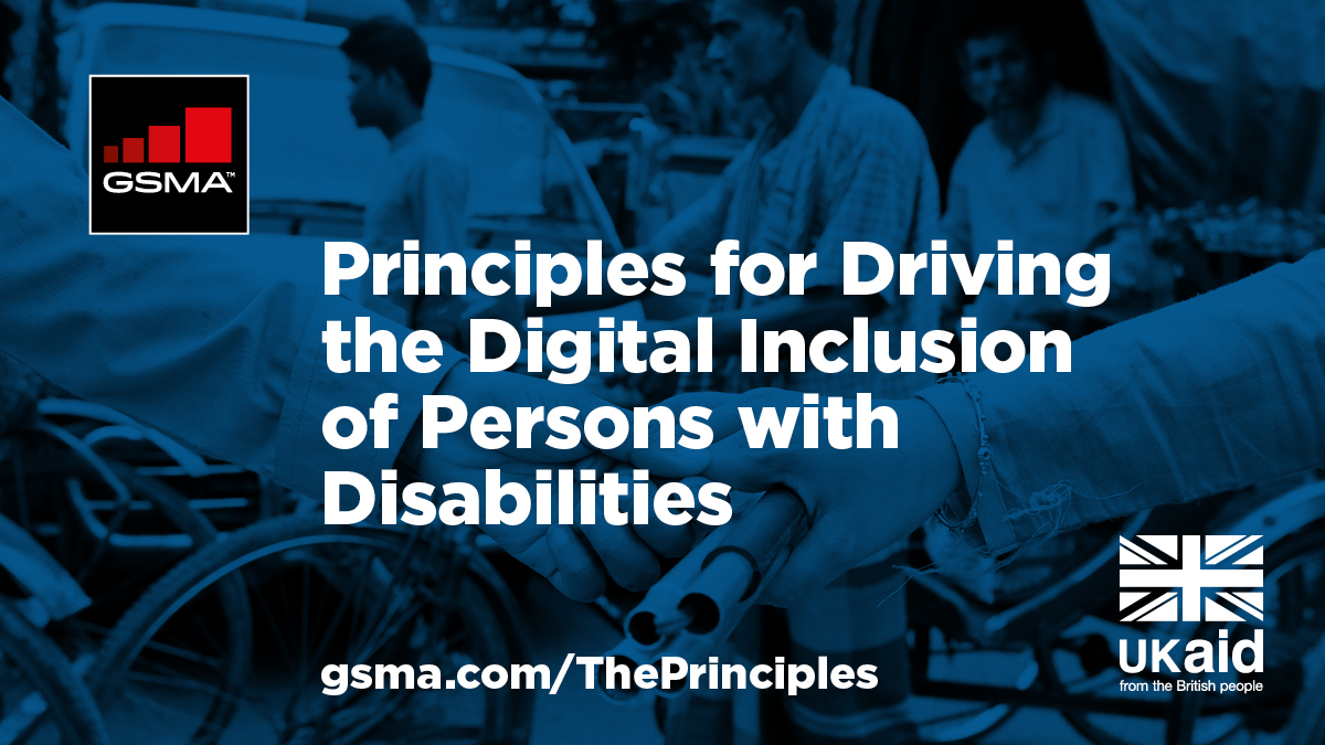 Now is the time for the #mobile industry to act … together we can create a world that is more #accessible for all. Act and find out more about the 'Principles', launched on #IDPWD2020 by the @GSMA and funded by #UKaid 👉