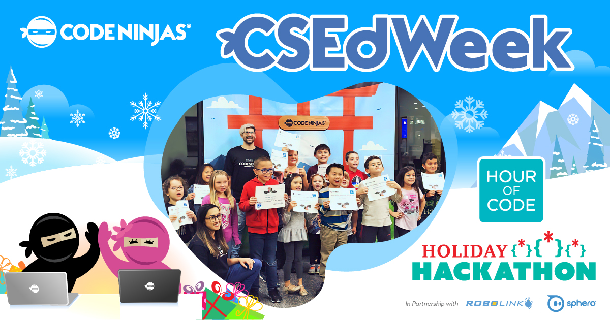 We have our winners! 👏🎉 Thousands of kids across the globe joined us for Hour of Code activities and our Holiday Hackathon 🤖 Learn more about our international events and see the winners by visiting our blog . Congrats to our winners! 🙌 #csedweek #csed