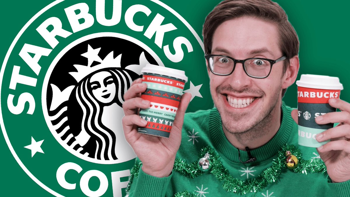 The best way to spread Christmas cheer is watching Keith eat and drink his way through the @Starbucks menu✨
