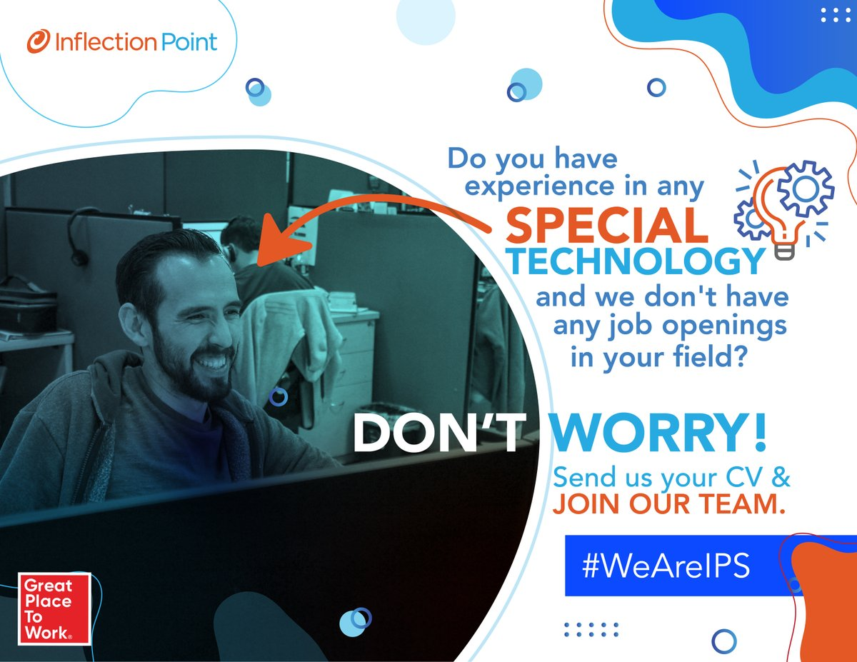 Do you have experience in any special technology and we don't have any job openings in your field? Don't worry! Send us your CV and join our team. We are frequently opening interesting positions for you. #WeAreIPS https://t.co/flpW3bg7Q0