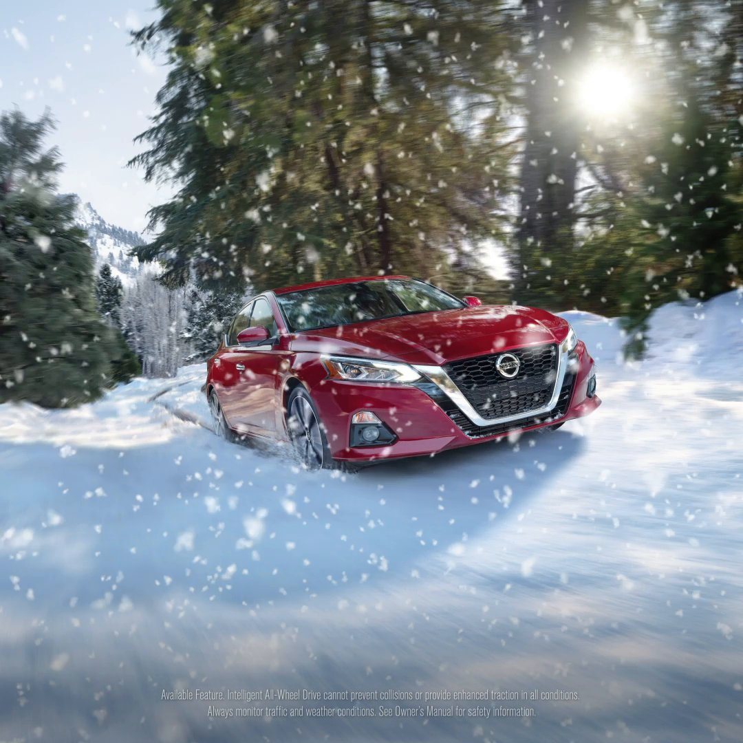 The new way to snow day. #NissanAltima2021 #AWD
