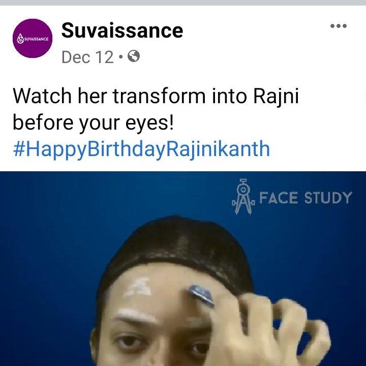 She wrote this with the video. #Rajinikanth #HBDSuperstarRajinikanth