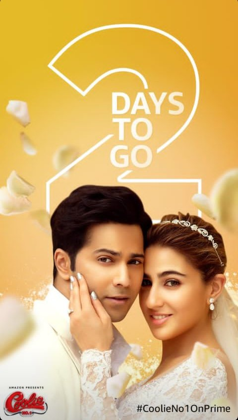 2 days to go #CoolieNo1OnPrime #CoolieNo1 release on Christmas day 🎄🎅🎉🎁 I am very very very excited #VarunDhawan #SaraAliKhan #DividDhawan sir #jackybhagnani #excitedforcoolieno1 🎉🎉🎊🎊