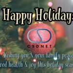 Image for the Tweet beginning: Happy Holidays from the #CSDNET