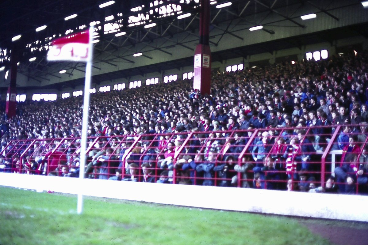 The Kop filling up 1978/9 (photo from the paddock)