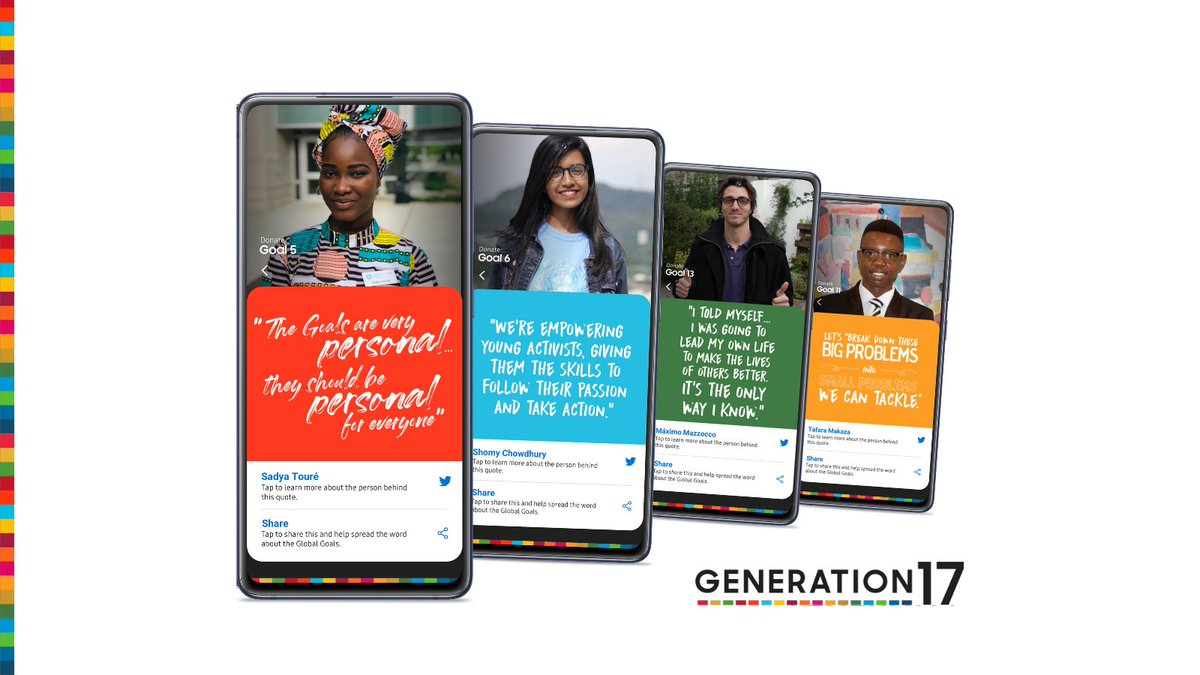 The first cohort of our #Generation17 young leaders with  @SamsungMobile reflect on how they're using digital activism to build communities for change and raise awareness about the #SDGs through our #SamsungGlobalGoals app. See how!