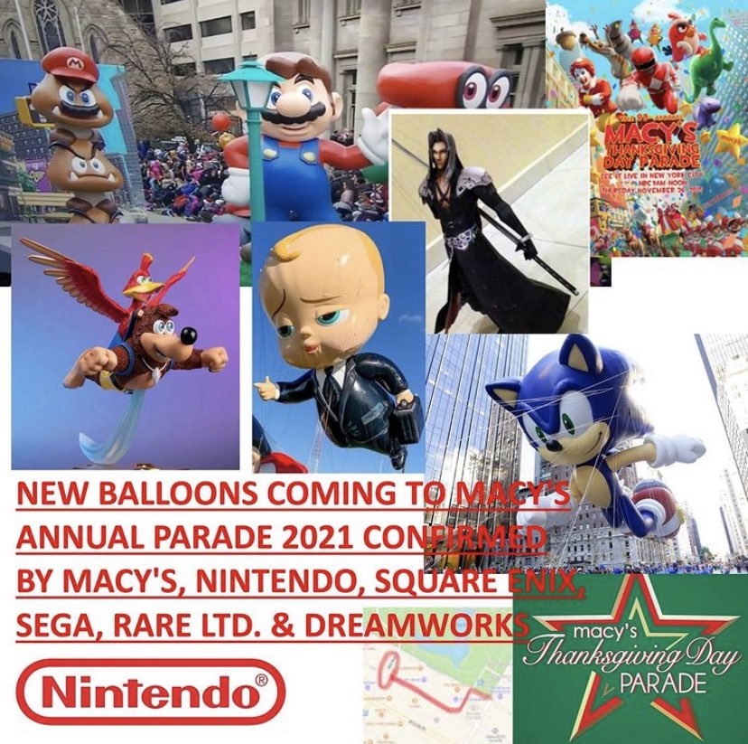To make people happy, we are revealing a new balloon for 2021's Macy's Thanksgiving Parade including.... Super Mario! #MacysParade