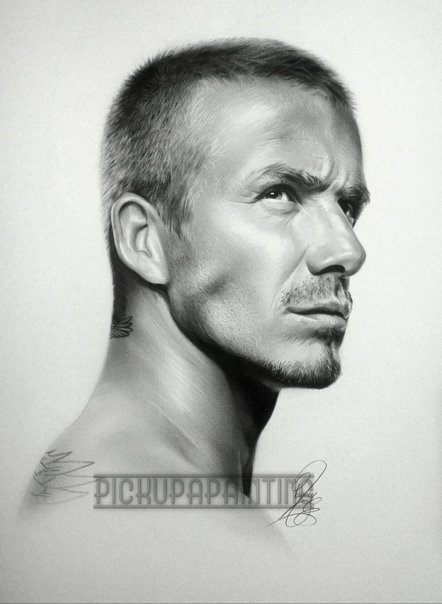 @victoriabeckham Just wanted to share my painting of #DavidBeckham hopefully u can help him see it