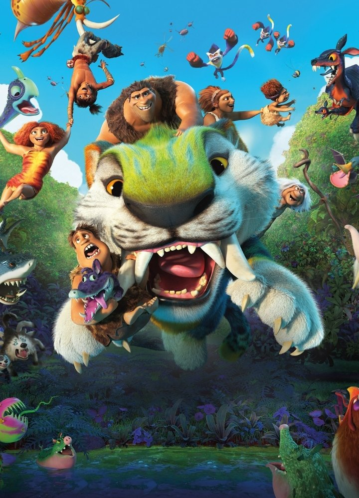 Watching #Croods2  #croodsanewage  👏👏👏👏 A #monkey comes with a twist.😂 For eating bananas 😋😂😋