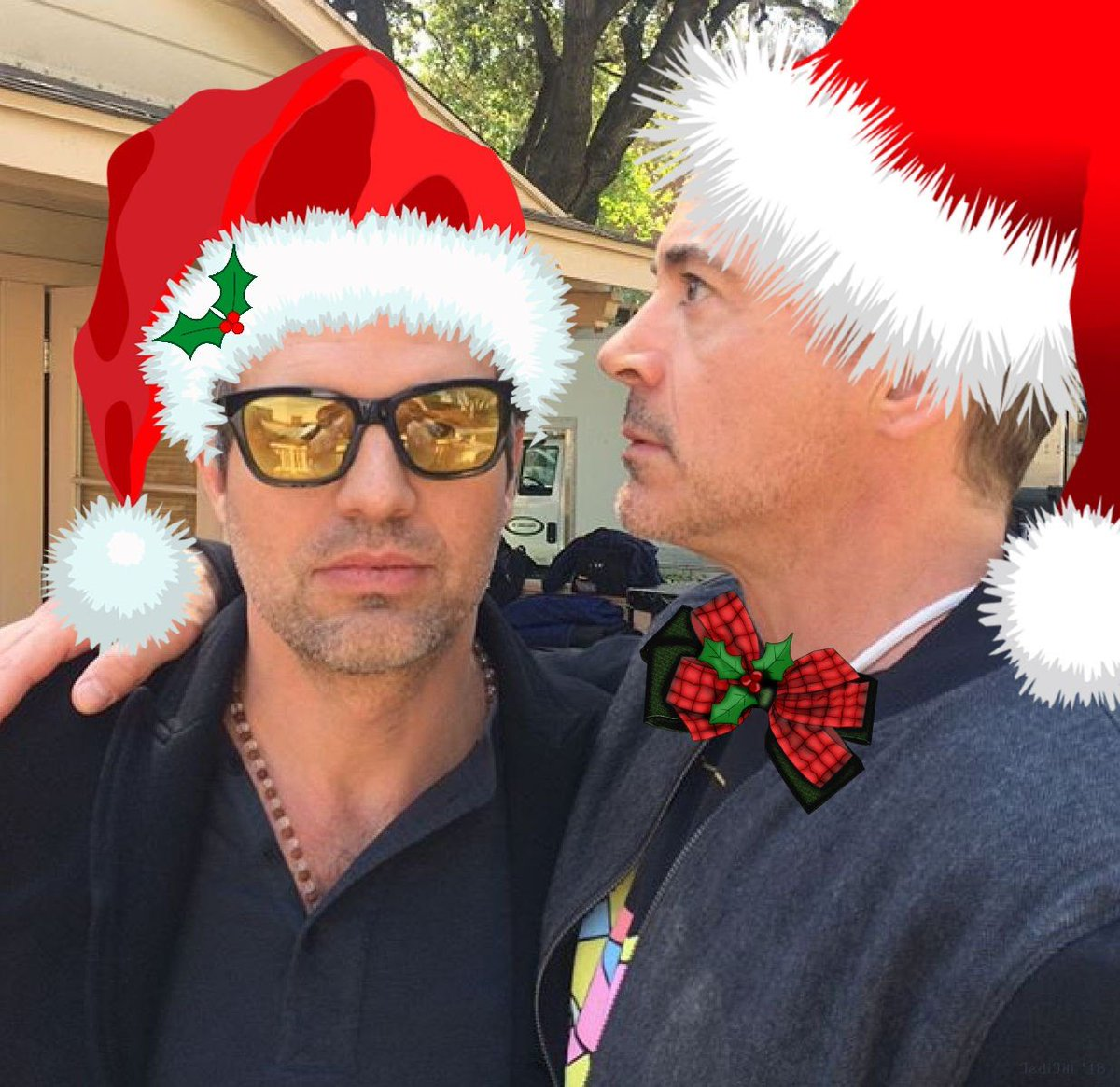 Have a Cool Yule! 🎅💚❤️ #MarkRuffalo #RobertDowneyJr #ScienceBros #ScienceBrosForever 💚❤️ #MerryChristmas #HappyHolidays