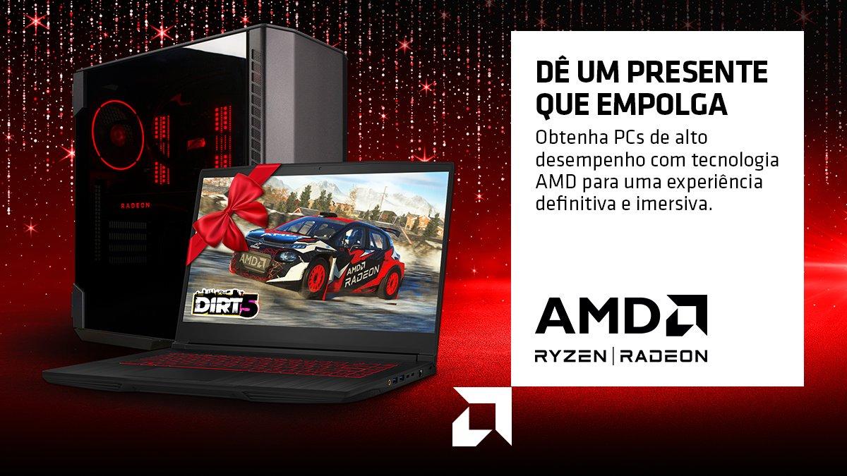 Tem presente melhor que um notebook com tecnologia AMD? Não, né? Então, para conquistar as melhores experiências de jogo, escolha os notebooks com processadores AMD Ryzen™ e gráficos AMD Radeon™. Nesse fim de ano, supere as expectativas! 🤩❤️🎁 https://t.co/38vAnoRC5X