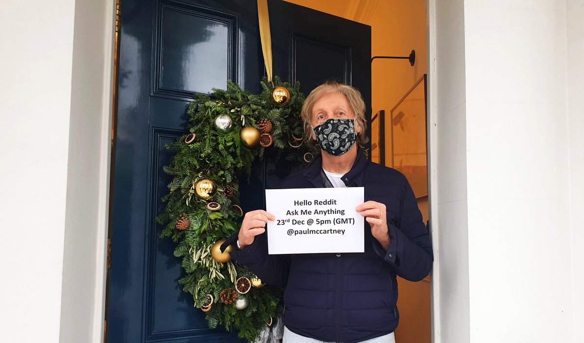 Replying to @PaulMcCartney: Got a question for Paul? Head to @Reddit NOW to ask him anything!