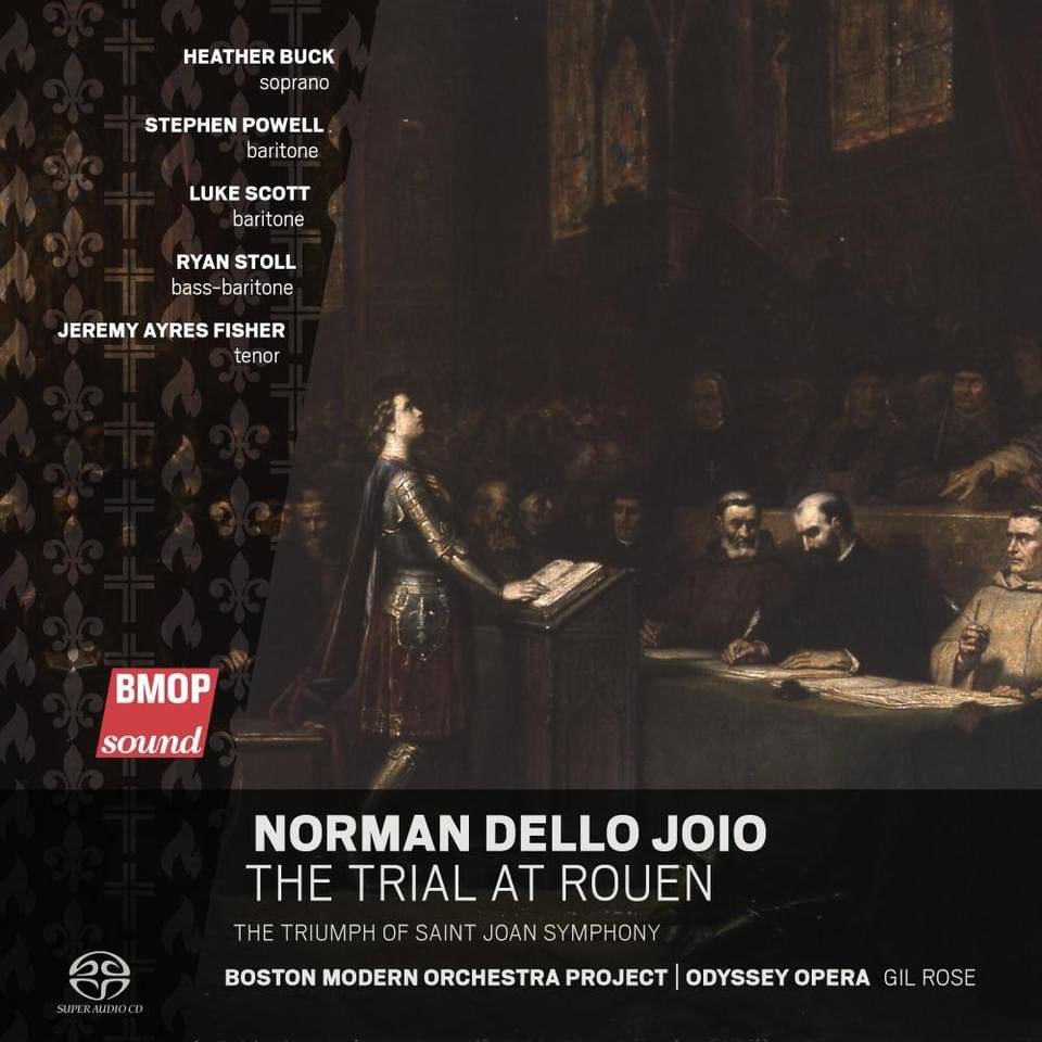 Stream, download and gift the #GRAMMY®-nominated #BMOPsound release, Norman Dello Joio: The Trial at Rouen /   #TrialByFire #OOTrial #wbw #GRAMMYnoms
