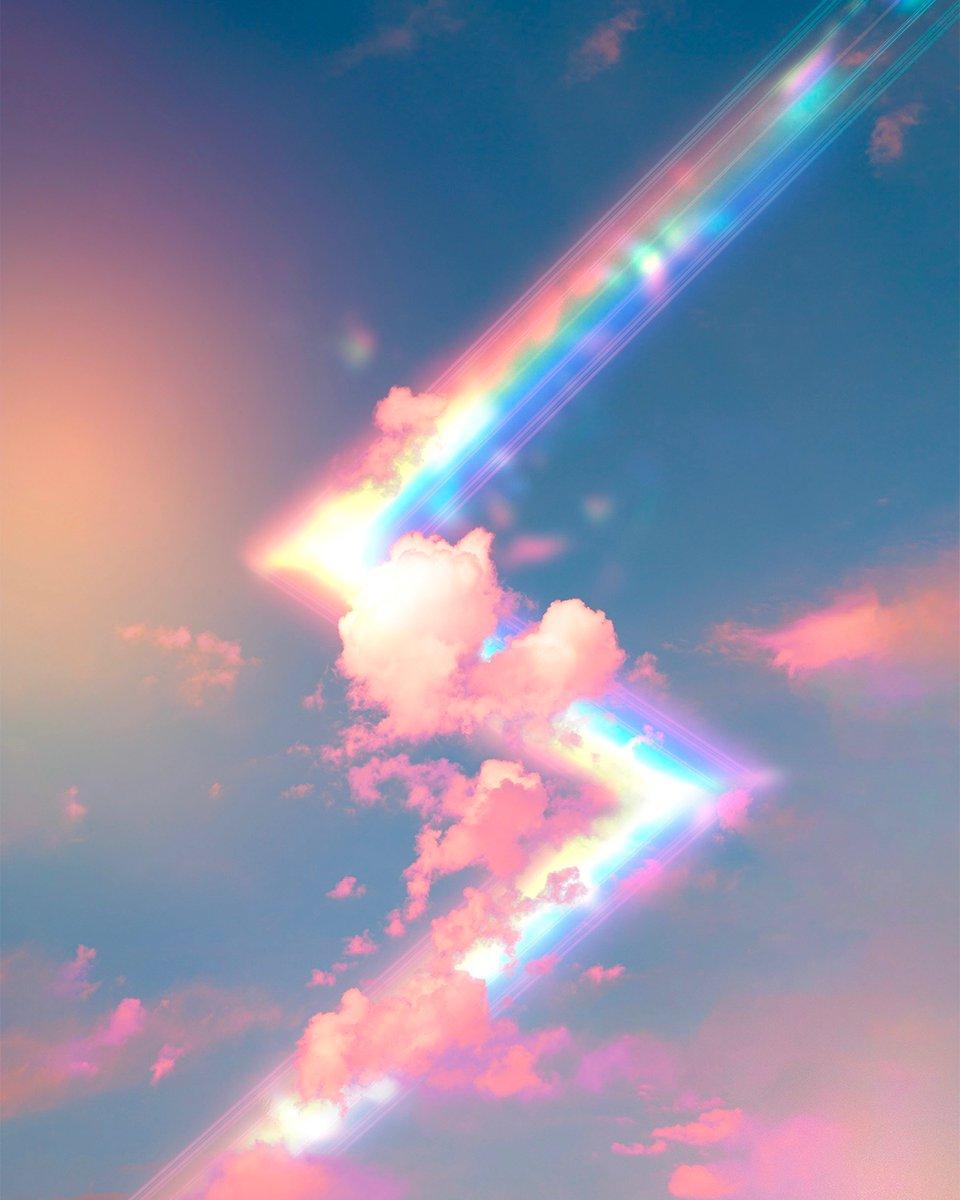 some rainbow lightning bolts  #art #artistsontwitter #light