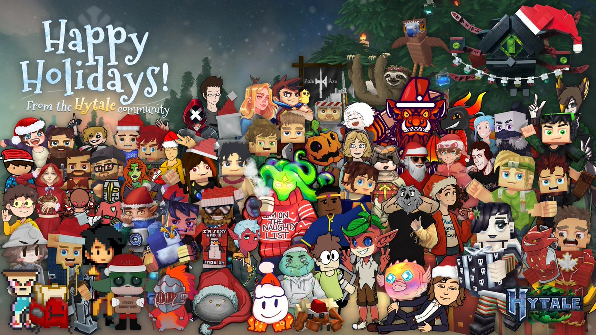 Happy Holidays from all of us in the #Hytale community! 🎅 https://t.co/6V6hekeFlp