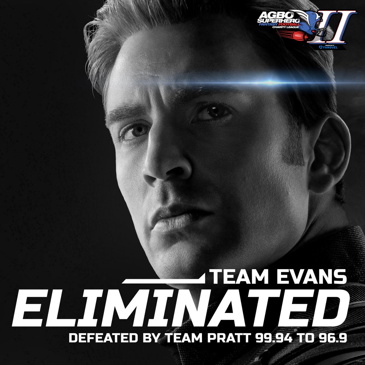 We hate to see you go, but we love to watch you leave🇺🇸🍑  America's Ass @ChrisEvans fell to the mercy of @prattprattpratt in the semifinals.  And someone should check on @MatthewBerryTMR who fought hard, but fell short against newbie @SimuLiu 💔