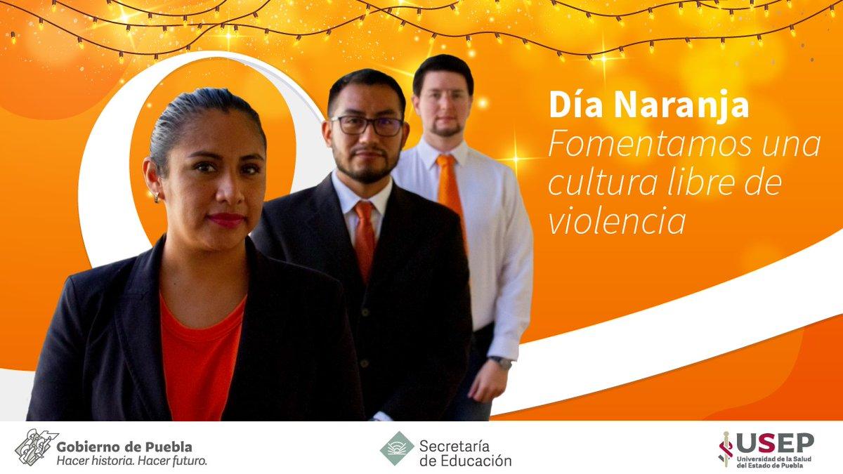 En este #DíaNaranja seguimos aplicando acciones para que más mujeres vivan Navidades libres de violencia 🧡🧡 ¡Fomentamos espacios universitarios de respeto y equidad! #pintaelmundodenaranja
