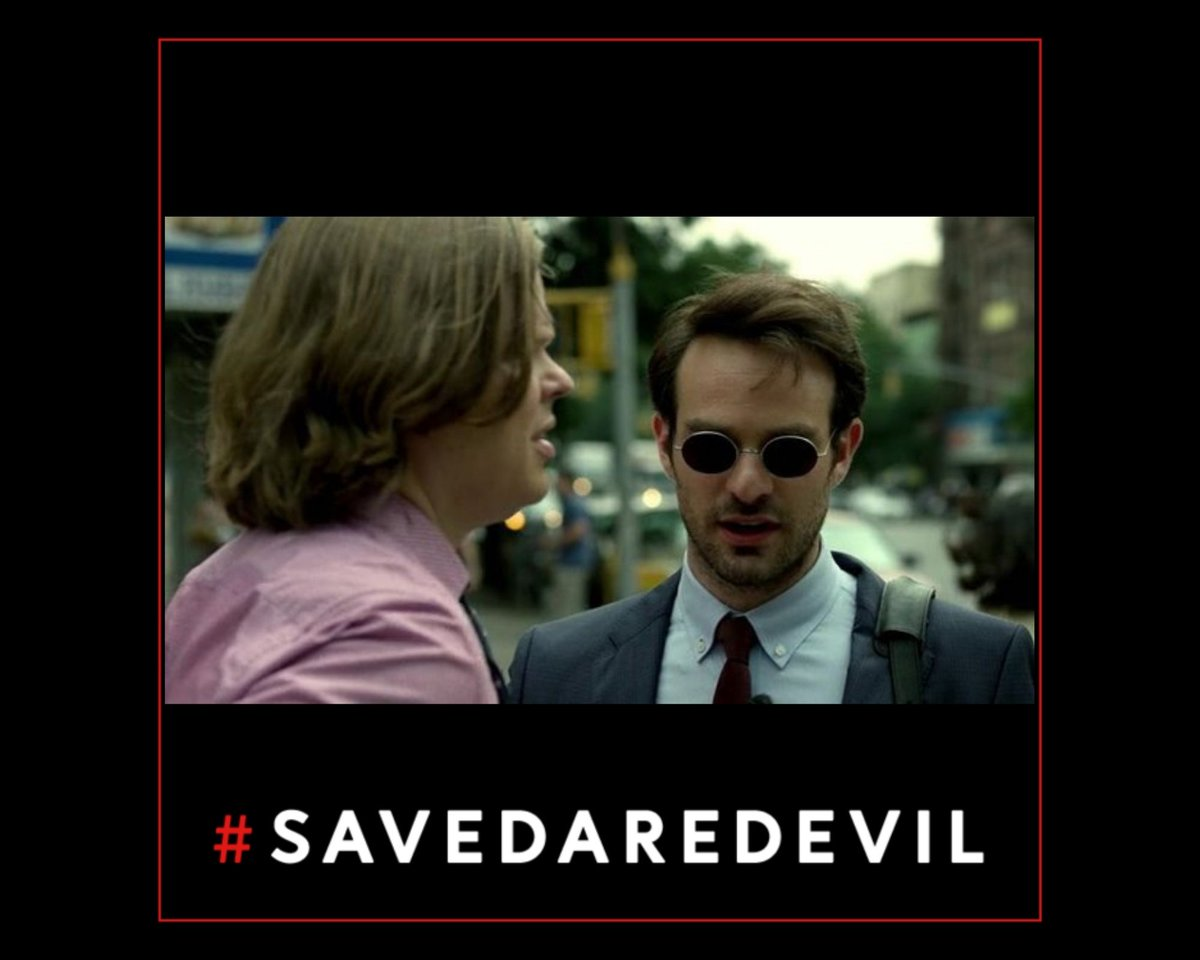 Remember:  #CharlieCoxIsDaredevil  Elden Henson is Foggy Nelson  #SaveDaredevil means THE ENTIRE CAST