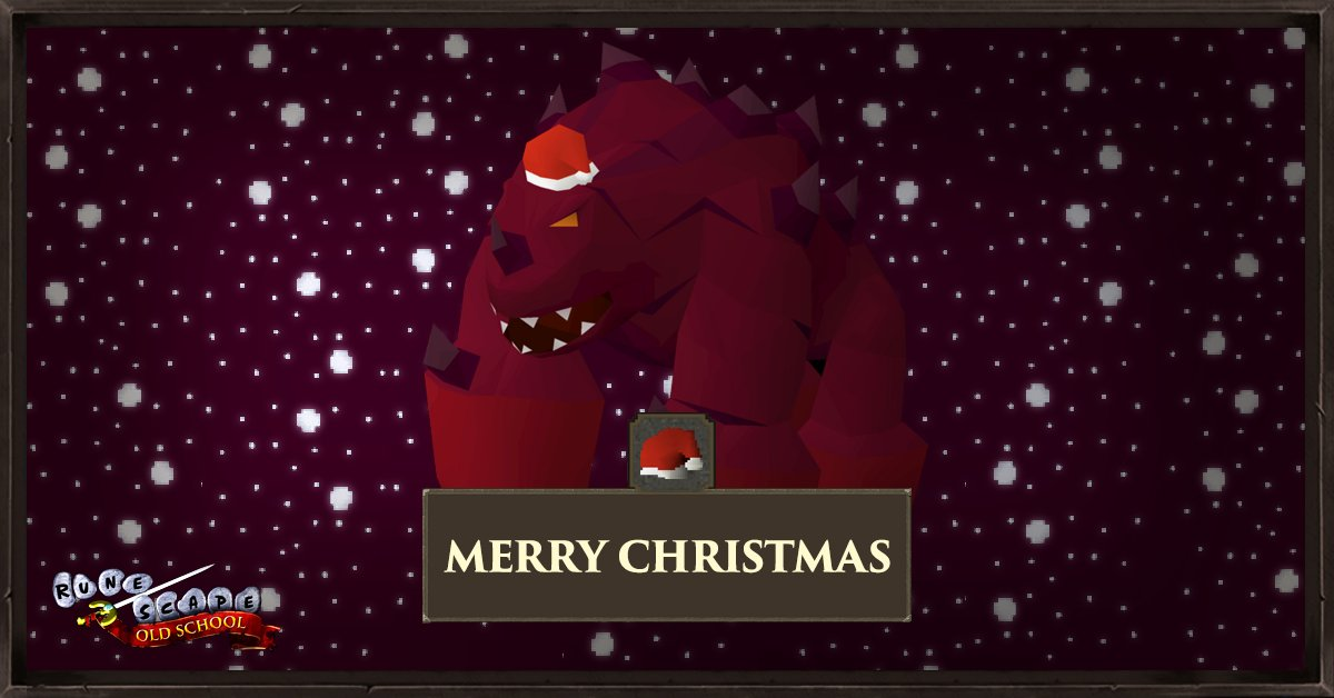 Osrs 2021 Christmas Old School Runescape On Twitter It S Just A Few Days Until Christmas And The Old School J Mods Are Really Jad That S Glad Not Sad To Be Spending The Holiday With You