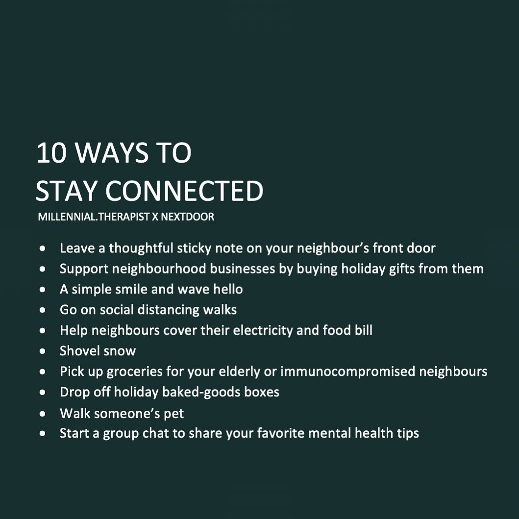 Many of us are far from family and loved ones this holiday season. Try these tips to stay connected from therapist @SaraKuburic and learn more about the #Nextdoor #KINDChallenge at