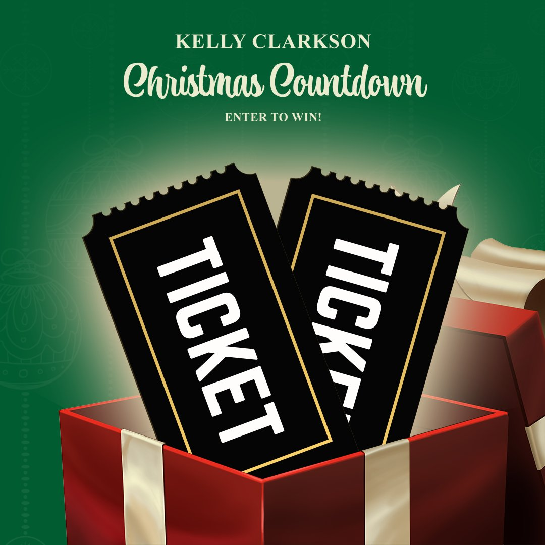 I think y'all are gonna love the final giveaway in the Kelly Christmas Countdown! 🤩 Head to   now to enter Day 12 to win tickets to @KellyClarksonTV!
