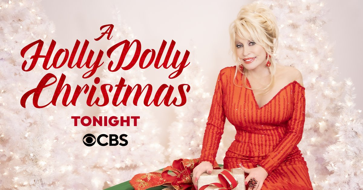 """Don't miss out on another dose of holiday cheer this year! Watch my """"A Holly Dolly Christmas"""" special again tonight on @CBS ❤️"""