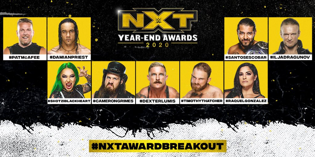 WWE NXT 2020 Year-End Awards Announced