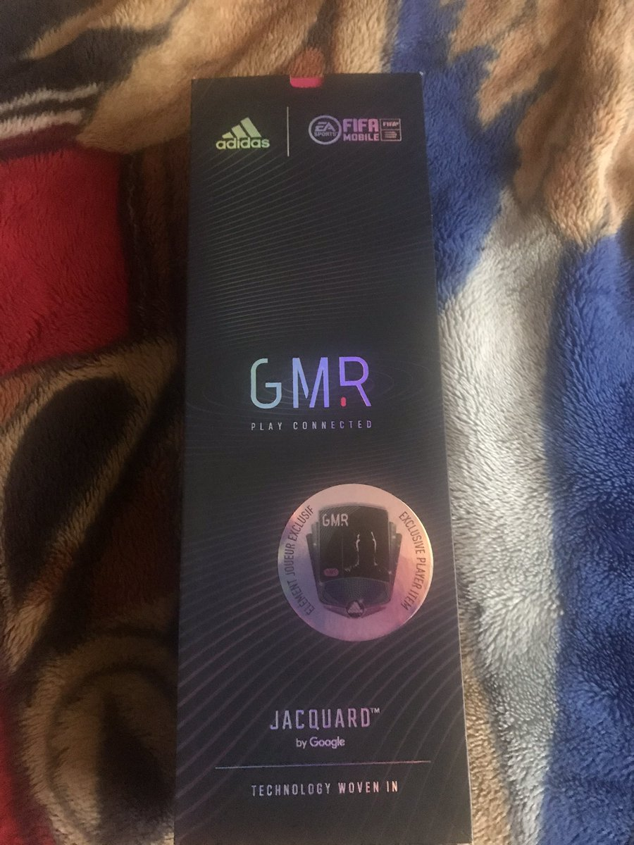 It arrived! It came in less than a week (faster than it did in March with my other GMR insoles surprisingly), Zidane should be coming soon 👀  #AdidasGMR #GMR #FifaMobile