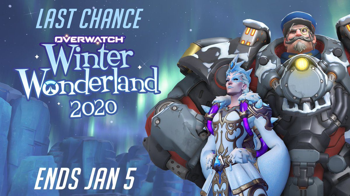 All hope is not frost. ❄️  There is still time to earn thaw-some rewards – Overwatch Winter Wonderland ends Jan 5!