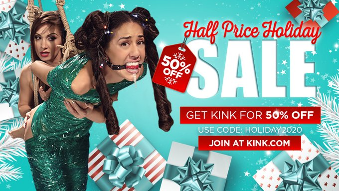 All we want for Christmas is YOU!  🎄 Get 50% off KINK for LIFE! 🎄 JOIN NOW: https://t.co/kMYrfayj4f  #kinkdotcom