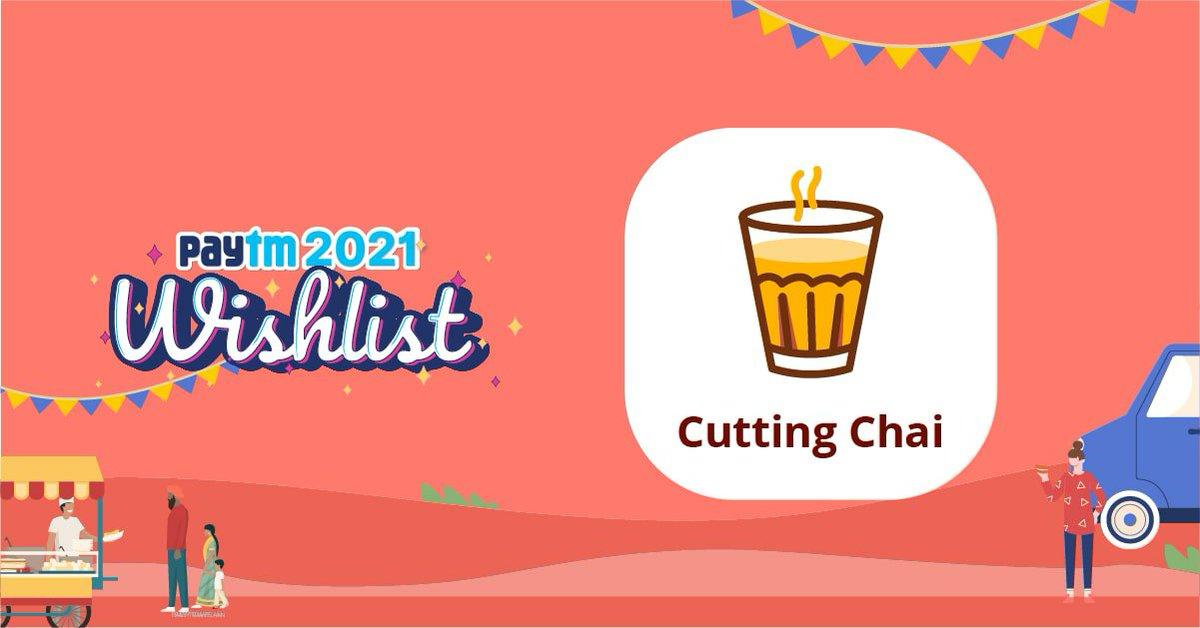 I'm gifting you Cutting Chai Card to complete your Paytm 2021 Wishlist! Get started & Win up to ₹10,000! #PaytmWishlist  @PaytmBank @Paytm