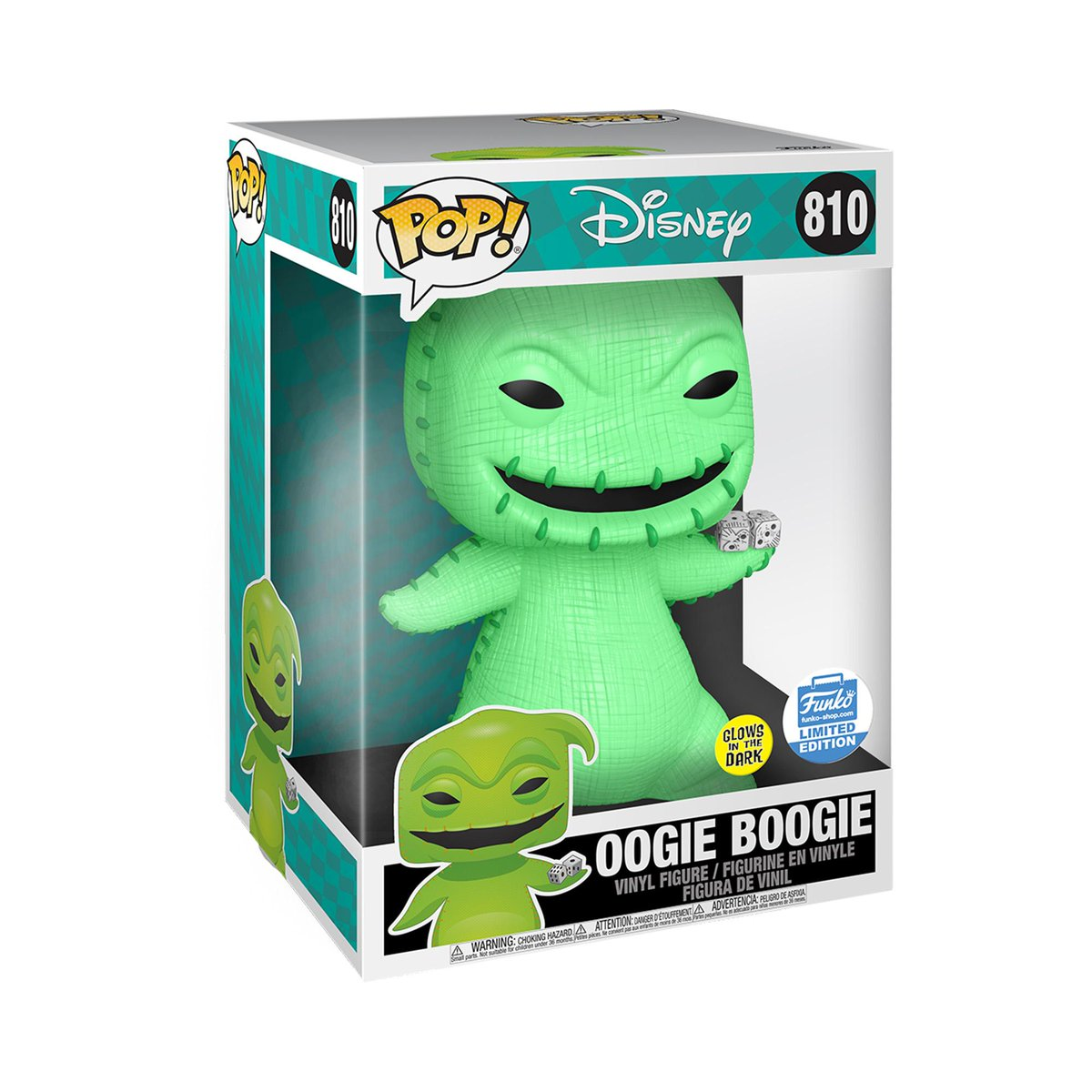 "RT & follow @OriginalFunko for the chance to WIN this Funko exclusive 10"" (Glow-in-the-Dark) Oogie Boogie Pop! #Funko #Funkogiveaway #Giveaway #Disney"