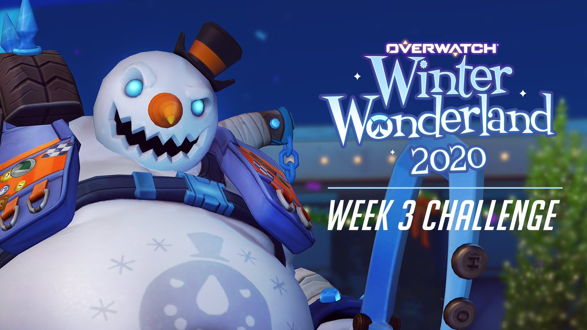 Snow pain, snow gain. ☃️    Play. Win. Earn. Unlock Frosty Roadhog (Epic) by winning 9 games in Quick Play, Competitive, or Arcade this week.