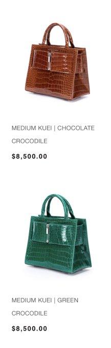 Anyone want to get me a Crocodile Brandon Blackwood bag? 😭 https://t.co/wS7XX372If