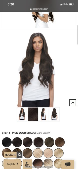 1 pic. For my Christmas gift, I'd like some new 100 percent remy hair extensions in dark brown from @BellamiHair