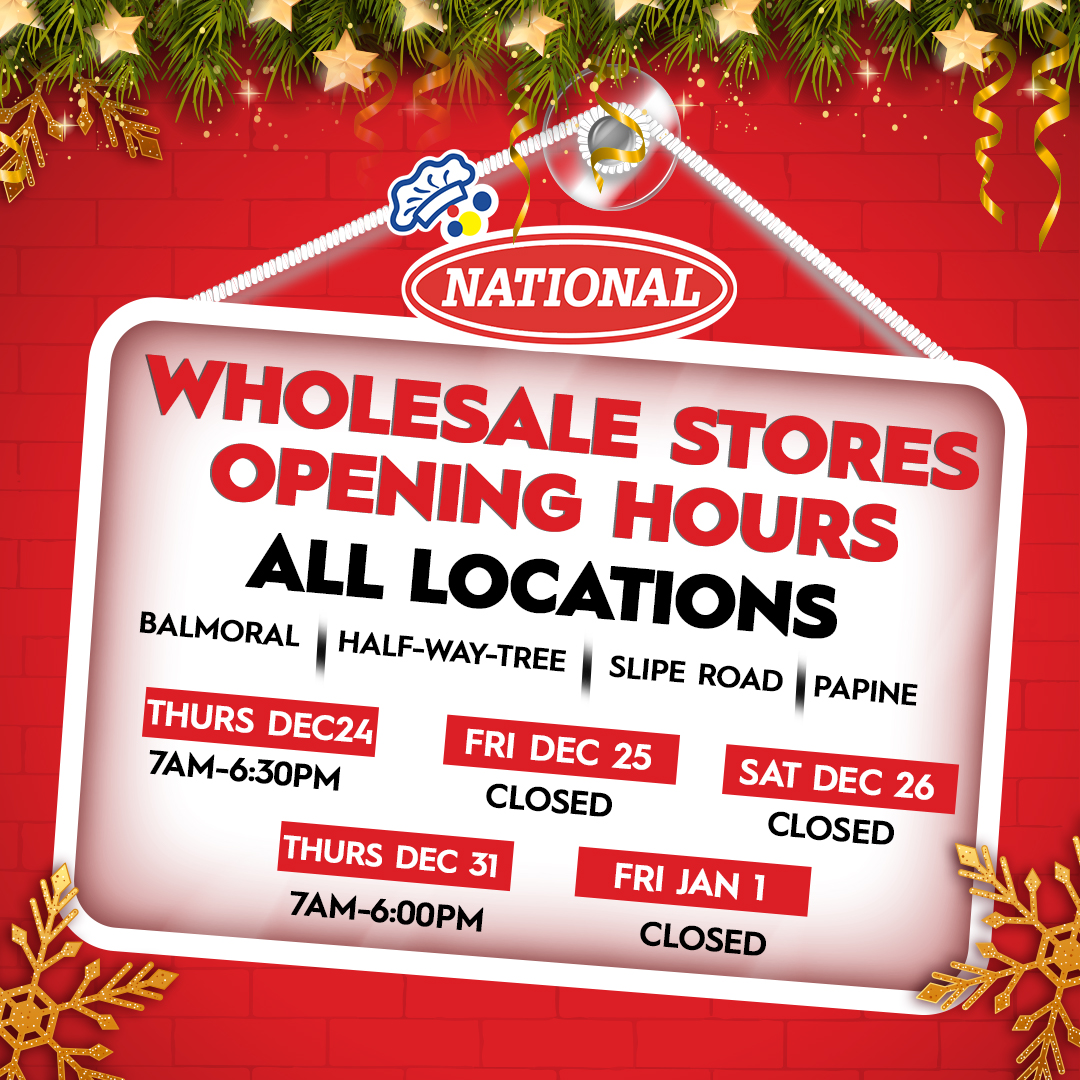 Please be advised of the opening hours of National Wholesale Stores for the holiday season 🎄 https://t.co/NpU88rmdNu