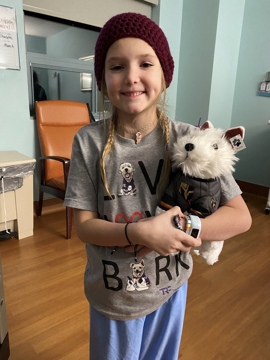 Your sponsorships of @TRFdotORG LIVE LOVE BARK shirts and Pawliday boxes for hospitalized children are being delivered.  @OvietheBulldog, Deke, @WinstonDaDoodle and I  can never thank you enough for your generosity! 💜 ~ Bark🐾 #SlayCancerWithDragons  Caps by: @SinCityPhotoGrl