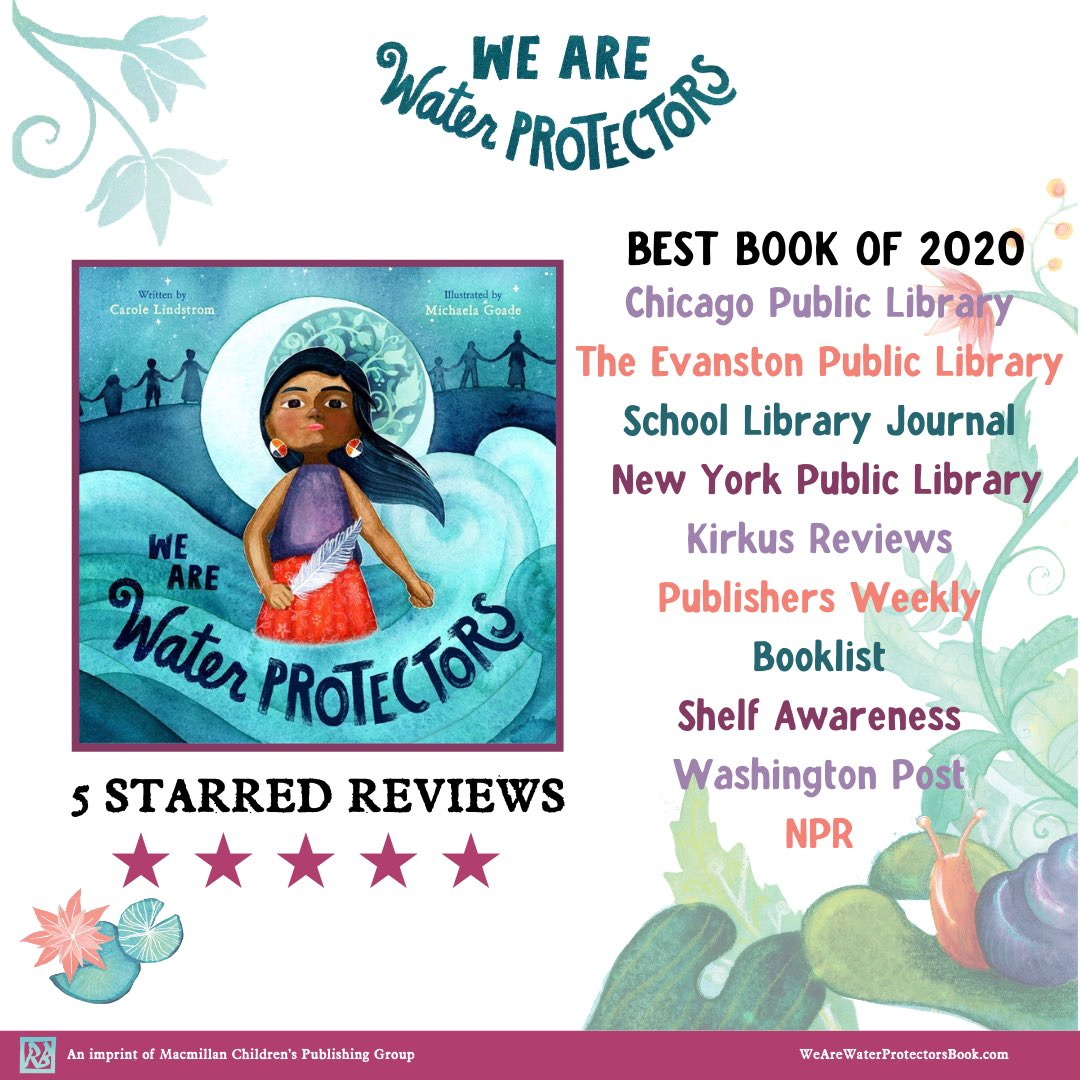 We Are Water Protectors has been so lovingly embraced this year. It has been a joy to see and I am so so grateful for all of the support. @CaroleLindstrom wrote such an important story and it was a privilege to help bring it to life. Gunalchéesh! @MacKidsBooks @MacKidsSL