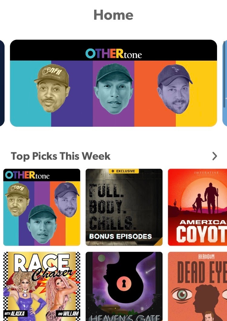 Much ❤️ to @Stitcher for naming #OTHERtone as a podcast pick of the week! 🙏🏽  Listen + Subscribe:
