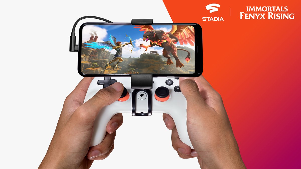 It's not a myth! Turn your phone into a gaming powerhouse and harness the strength of #Stadia to conquer the beasts of Immortals @FenyxRising. Click to Play instantly.