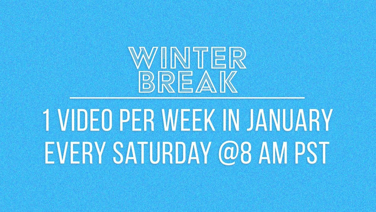 """Hey everyone! We decided to take a """"Winter Break"""" to give ourselves & everyone on the Try Staff a little bit of a breather after releasing so many amazing videos this month! We'll have 1 vid a week through Jan. and will be back with 2 episodes a week in Feb! Love, The Try Guys!"""