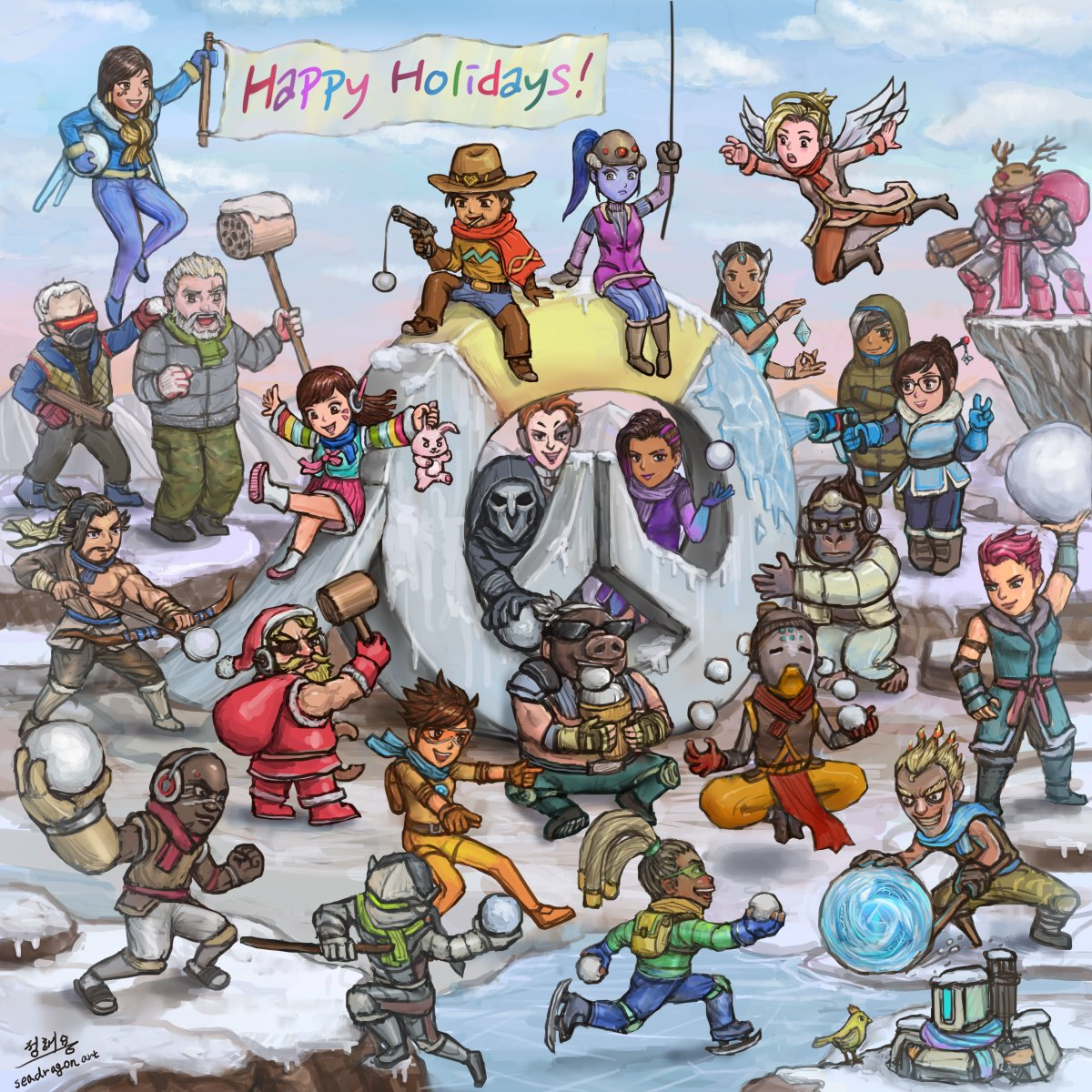 Happy Holidays from all of us on the Overwatch team.🎄❤️