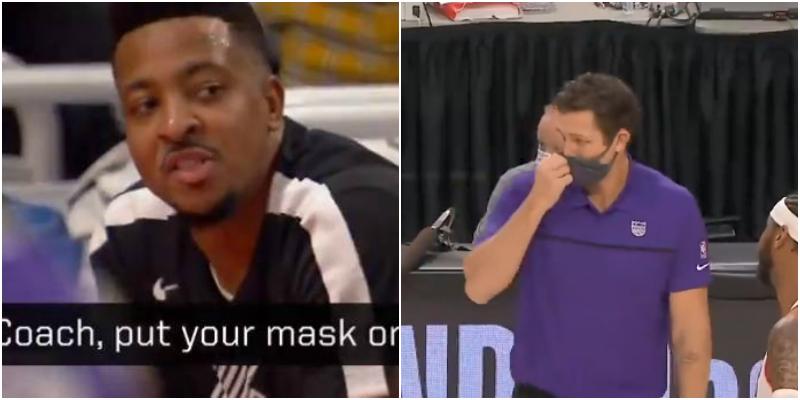 【影片】沃頓比賽中摘下口罩指點戰術,CJ大喊:教練把口罩戴上!