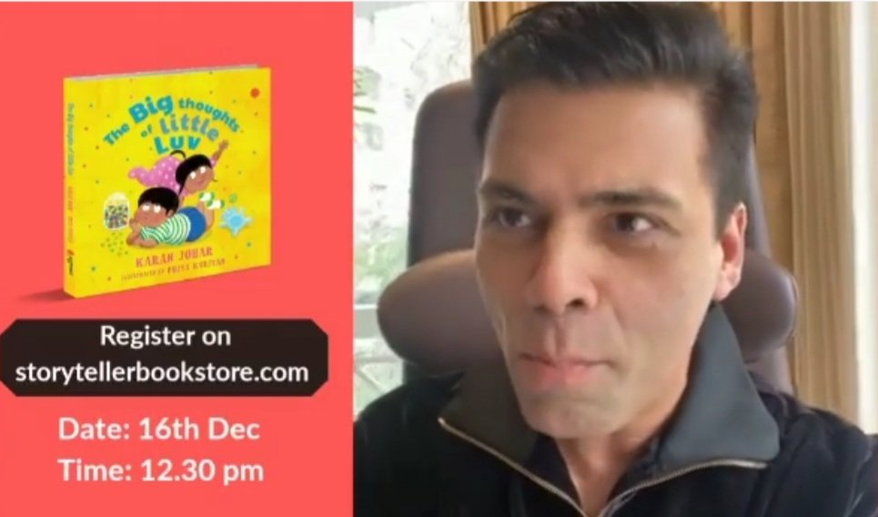 @karanjohar is excited for release of his new children's book#TheBigThoughtsOfLittleLuvon the online platform on Dec 16. Karan said he looke forward to the launch of the book,which is being brought by @juggernautbooks.The book is about his interaction with his son Luv.
