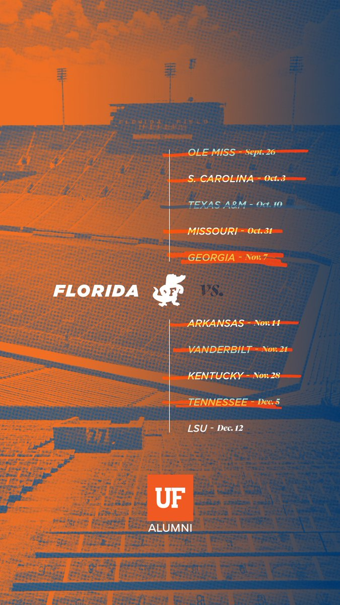 Show your 🐊 pride with this week's lock screen and home screen wallpapers!