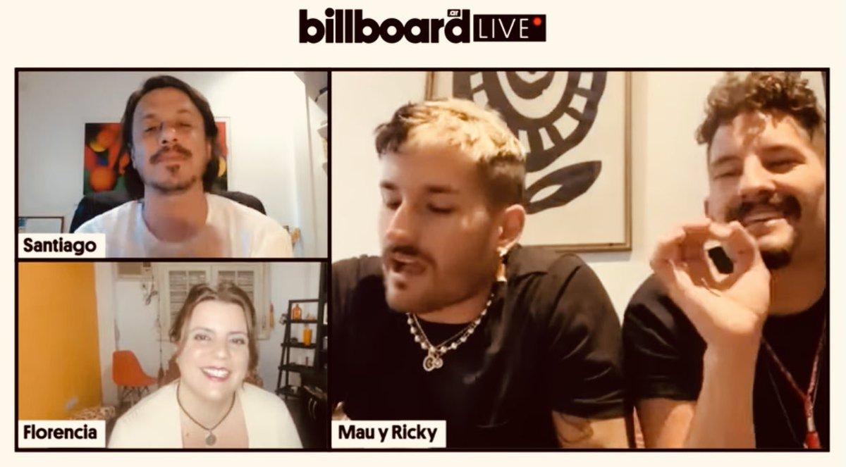 """Mau y Ricky: """"Este álbum tiene el mensaje de decirle a la gente que abrace su diferencia"""":  @MauYRicky @santitorres @BillboardArg"""