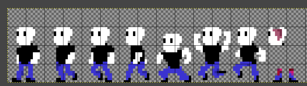working on some new jump and death animations