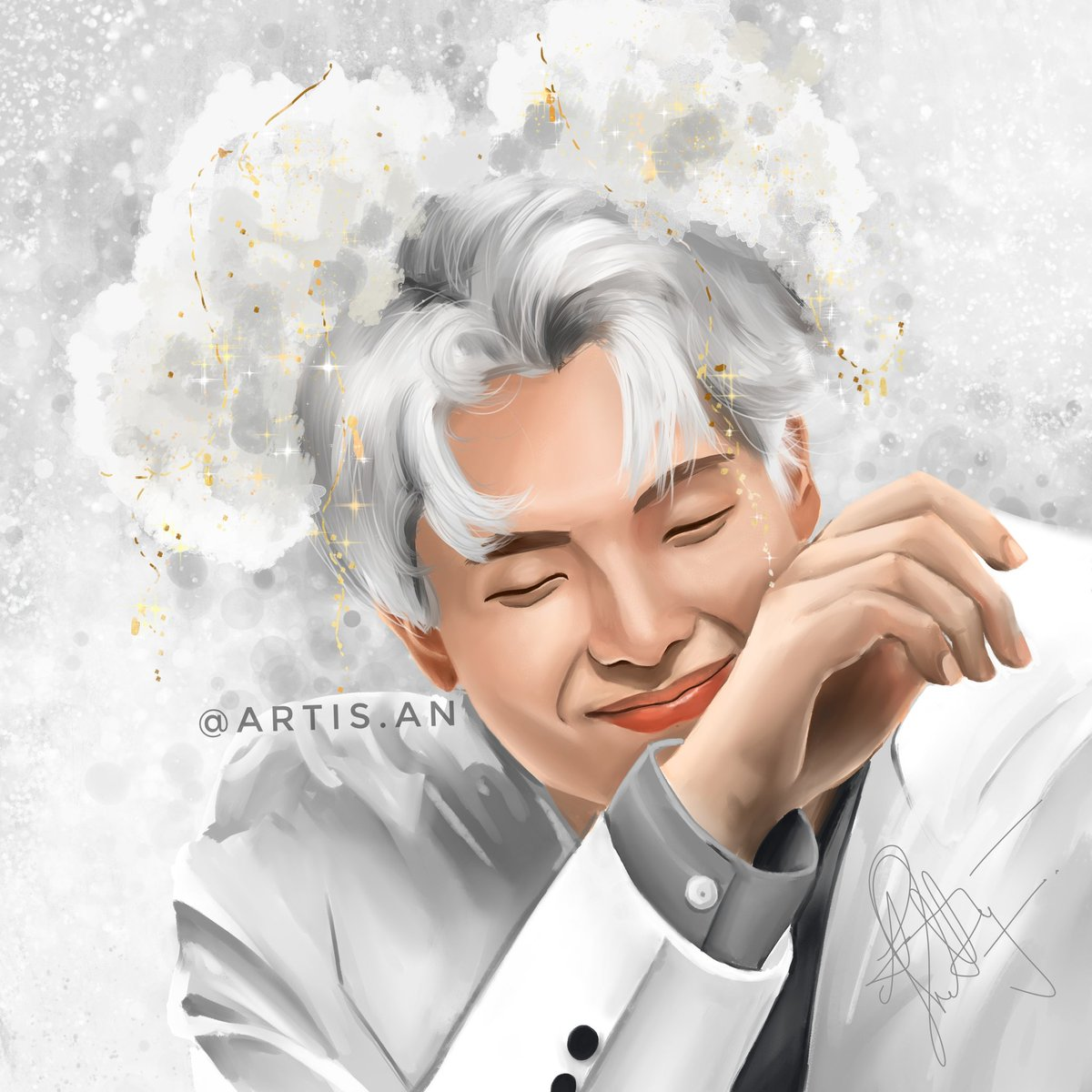 Here's a Joonie I drew a while back as part of my colour studies over on Instagram *Ice Prince Joonie*  #bts #KimNamjoon #rm #namjoon #btsfanart #NamGiHOT100Songwriters #BTSARMY #artmy #desiartmy